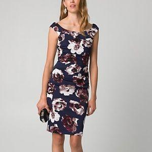 🌺 NWT Le chateau floral knit crepe cocktail dress